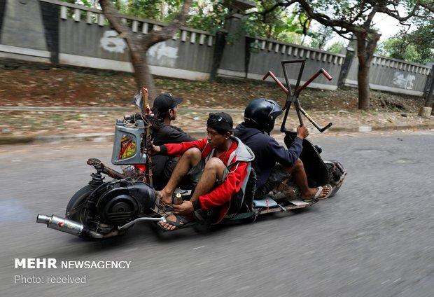 مسابقه ماشین های دست ساز در اندونزی