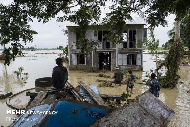 شکستن سد در میانمار