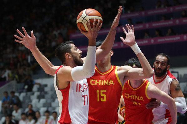 Iranian basketball players grab silver medal of Asian Games