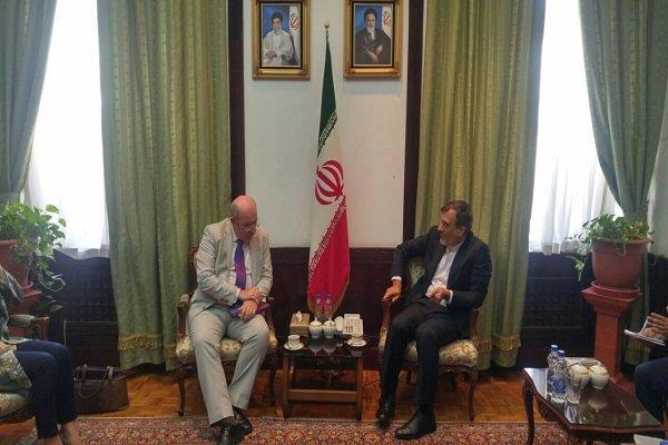 المبعوث البريطاني الخاص لسوريا يلتقي بجابري أنصاري في طهران