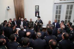 Leader receives officials of Khatam ol-Anbiya Air Defense Base