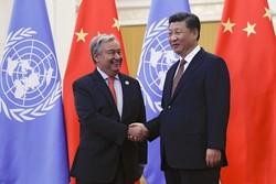 دبیرکل سازمانملل و رئیسجمهوری چین دیدار کردند