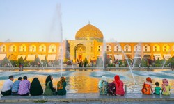 A view of the Sheikh Lotfollah Mosque in Isfahan