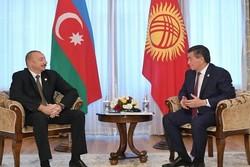 İlham Aliyev, Kırgız mevkidaşı Ceenbekov ile görüştü