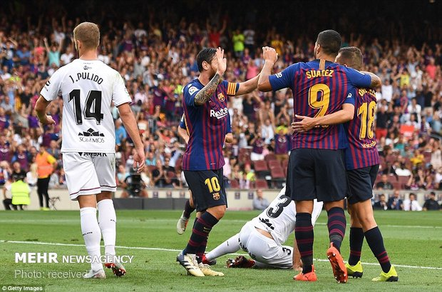 دیدار تیم های فوتبال بارسلونا و هوئسکا