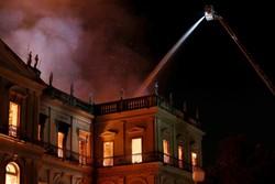 نجات افراد از آتش سوزی با کمک پهپاد