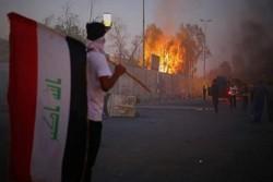 Irak'ta hükümet karşıtı fraksiyondan protestoculara destek