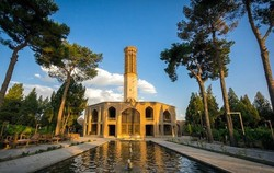 A view of the UNESCO-inscribed Dolat Abad Garden in Yazd