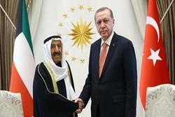 اردوغان با امیر کویت گفتگو کرد