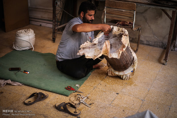 A workshop of creating Dammam in Khuzestan province