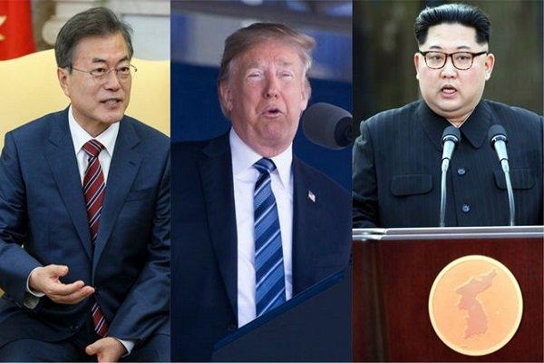 ترامپ و رهبران دو کره
