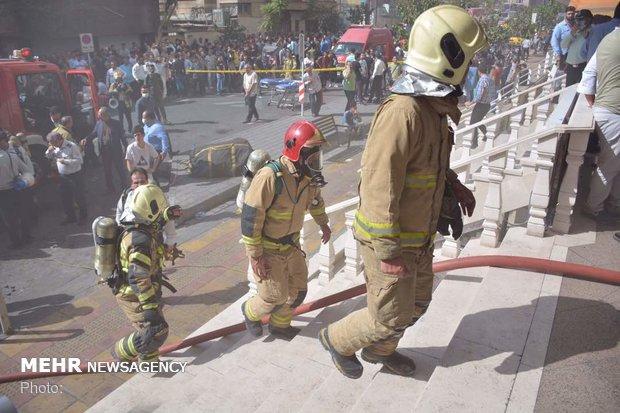 آتش سوزی در برج بهار