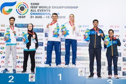 Iran grabs silver at World Shooting C'ships