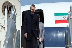 لاريجاني يصل إلى مطار فولغوغراد الروسي