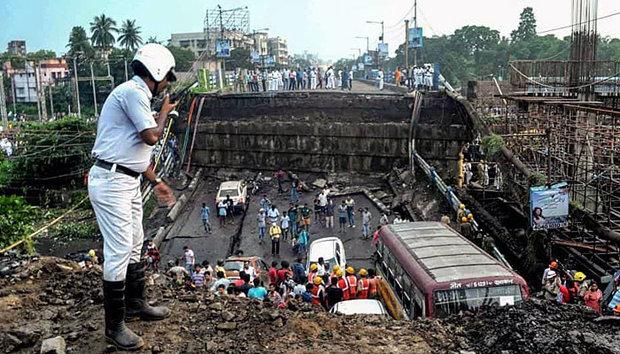 ہندوستانی ریاست مغربی بنگال میں پل گرنے سے ایک شخص ہلاک