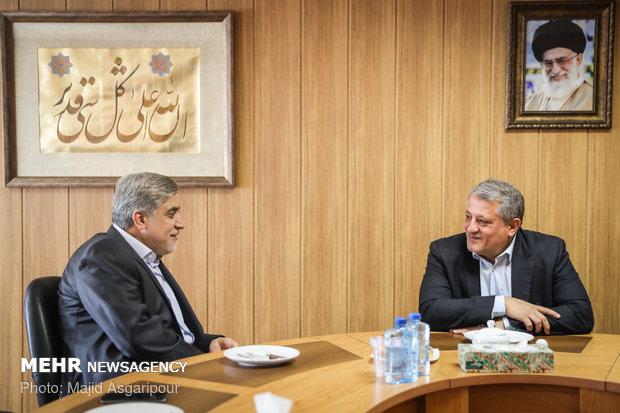 زيارة رئيس المجلس البلدي في طهران محسن هاشمي الى وكالة مهر للأنباء