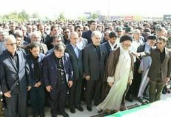 مراسم تشییع پیکر سیدرضا مقیمی اصل مرد صنعت آذربایجان برگزار شد