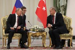 Erdoğan-Putin görüşmesinden görüntüler
