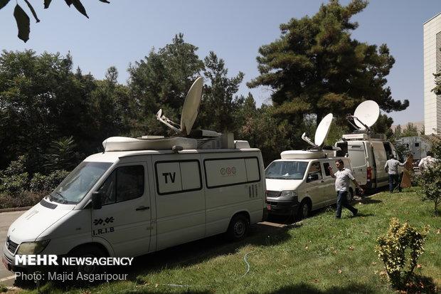 خبرنگاران حاضر در محل برگزاری نشست روسای جمهور ایران، روسیه و ترکیه