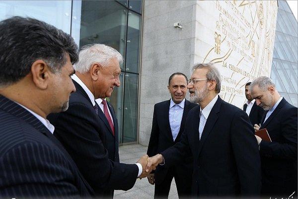 Parl. speakers of Iran, Blarus hold meeting