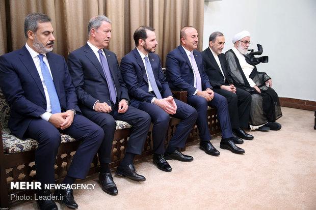 دیدار رییس جمهوری ترکیه با رهبر معظم انقلاب