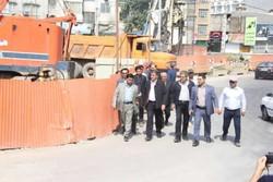 بازدید استاندار از پروژه عمرانی شهری در ساری