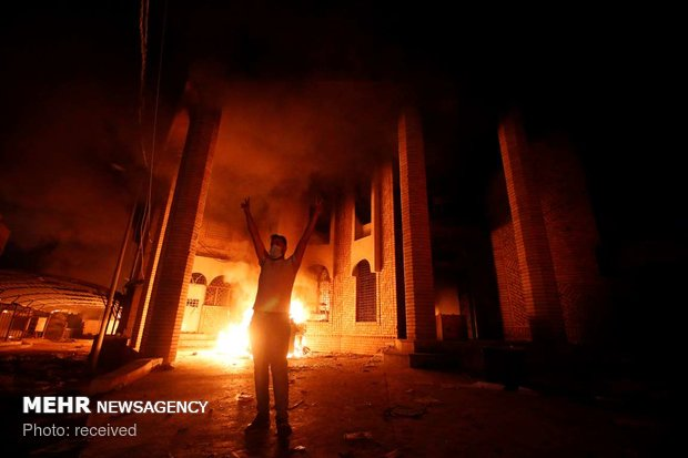 آتش زدن سرکنسولگری ایران در بصره