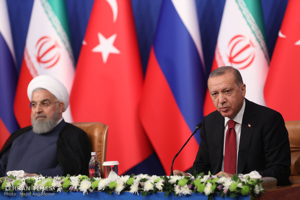 Press conference of Tehran Trilateral Summit on Syria