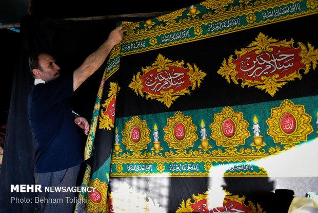 تحضيرات الشوارع الايرانية بمناسبة حلول شهر محرم الحرام