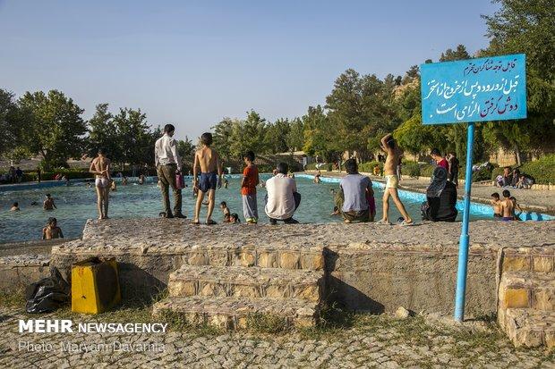 Joy of swimming in 'Besh Ghardash'