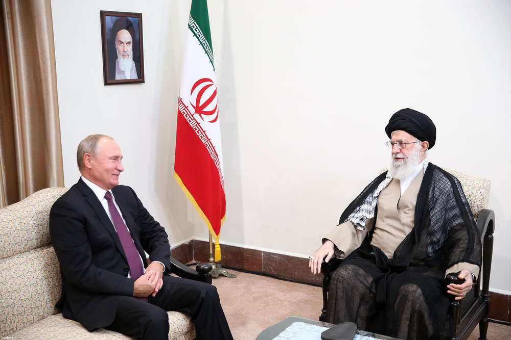 Ayatollah Khamenei says as in Syria Iran and Russia can 'contain' dangerous U.S.