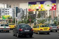 نابسامانی تبلیغات محیطی در کرج/واگذاری تابلو بدون قرارداد