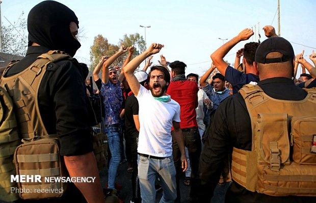 بصرہ میں مظاہروں کا دوبارہ آغاز
