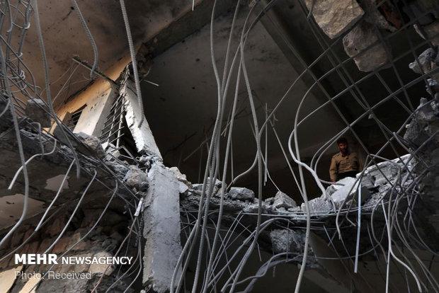 مقر حزب دموکرات کردستان پس از انهدام