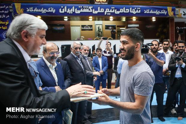 تجلیل از مدال اوران کشتی آزاد و فرنگی کاران تیم ملی ایران