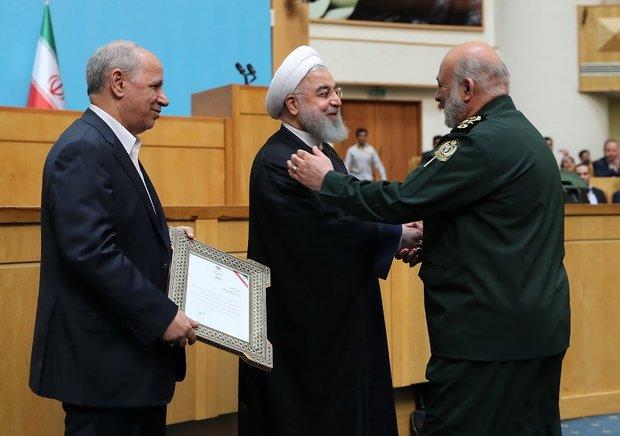 وزارة الدفاع الإيرانية تحصل على المرتبة  الاولى في مهرجان الشهيد رجائي الوطني