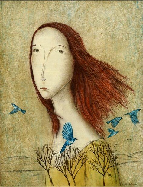 Narjes Mohammadi hangs illustrations in Spain