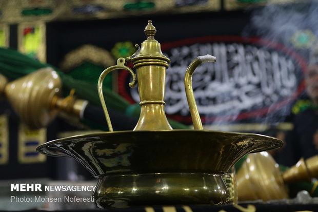 """مراسم """"رفع الرایات"""" التقليدية في """"برجند"""" مع بدء شهر محرم"""