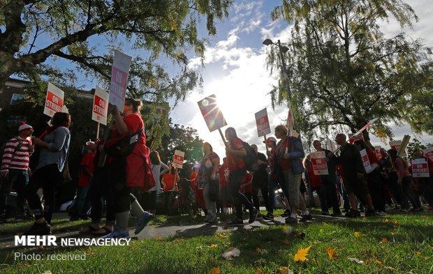 إضراب المعلمين في امريكا