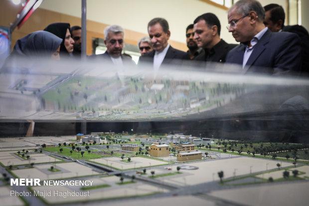 مبادله قرارداد طرحهای صنعت آب، آبفا و برق با حضور اسحاق جهانگیری معاون اول رییس جمهور