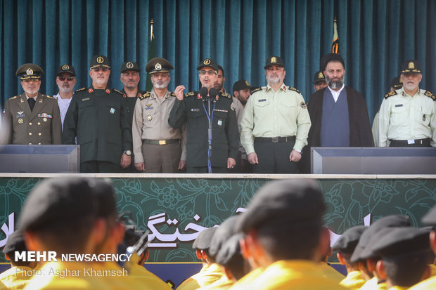 Graduation ceremony of police cadets at Amin University