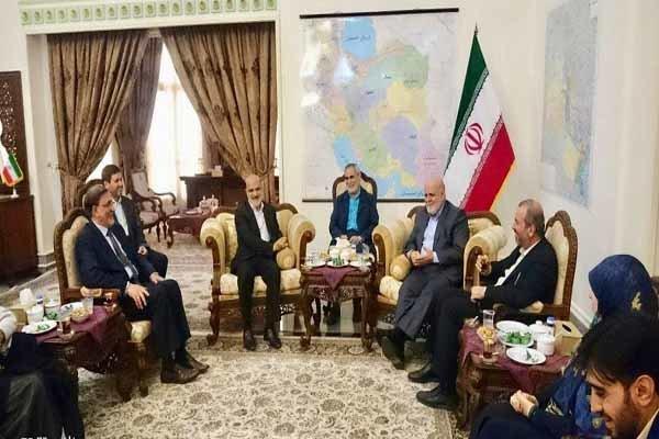 حضور هیات همبستگی مجلس اعلا در سفارت ایران در عراق