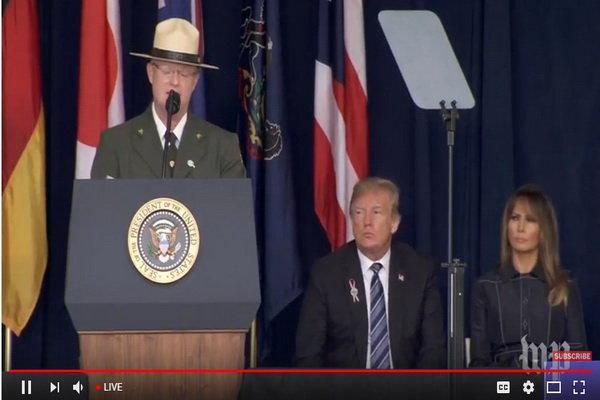 ترامپ در مراسم 11 سپتامبر