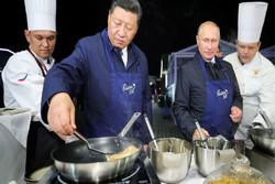 فلم/ روس اور چين کے صدور کھانا پکاتے ہوئے