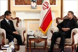 امیرعبداللهیانبا سفیر ژاپن در تهران دیدار و گفتگوکرد