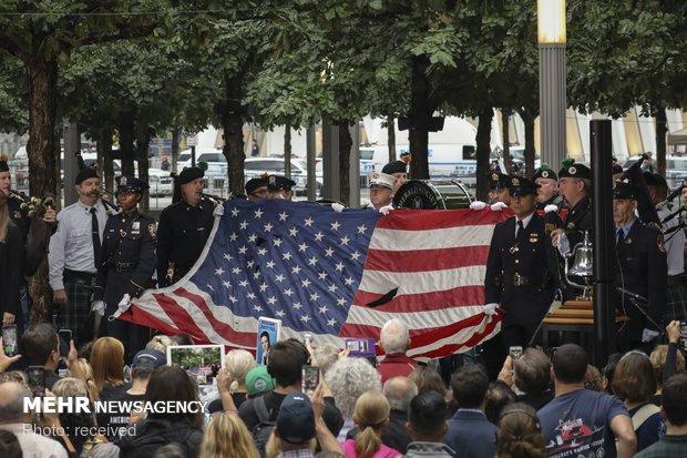 مراسم یادبود قربانیان حادثه 11 سپتامبر