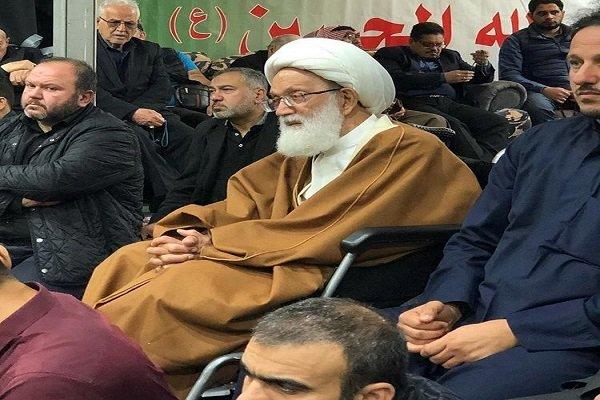 """أول حضور علني للشيخ """"عيسى قاسم"""" في الإعلام بعد إجراء العملية"""
