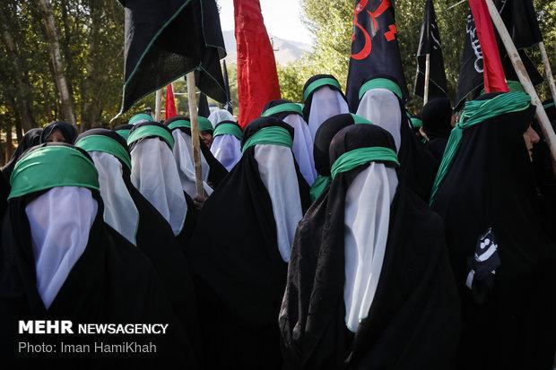 حرکت نمادین ورود کاروان امام حسین (ع) به کربلا