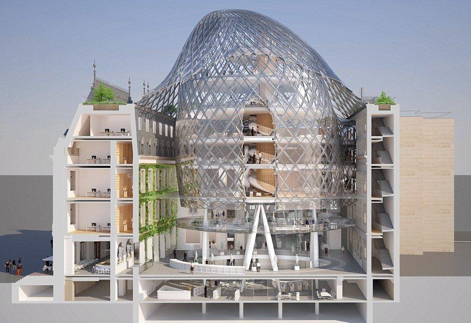 ساختمانی با گنبد خورشیدی که برق تولید می کند