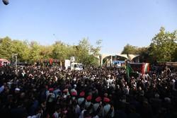 دفاع مقدس کے 135 شہیدوں کی تشییع جنازہ
